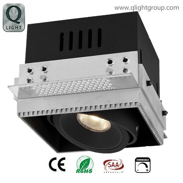 Square trimless 10W LED down lights(QL0077)