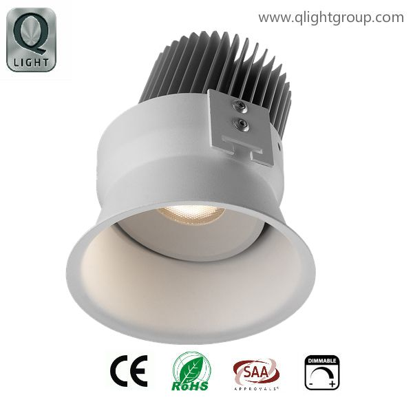 Tiltable round recessed down light